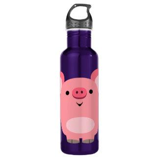 Cute Muscled Cartoon Pig 710 Ml Water Bottle