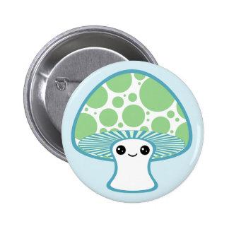 Cute Mushroom Pinback Buttons