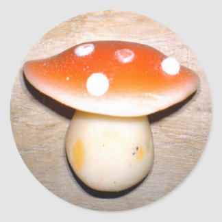 Cute mushroom classic round sticker