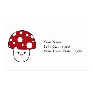 Cute Mushroom Fungi Business Cards
