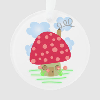Cute Mushroom House Ornament