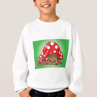 Cute Mushrooms on green background Sweatshirt