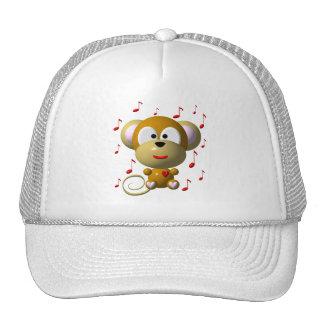 Cute musical monkey cap