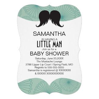 Cute Mustache Boys Baby Shower Custom Invite