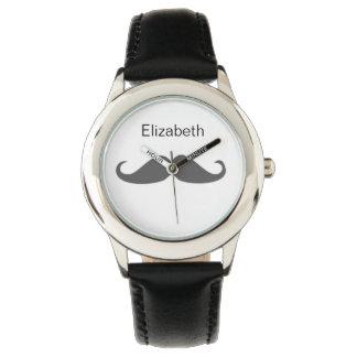 cute mustache personalized design watch