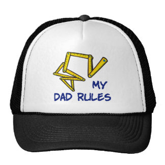 Cute My Dad Rules Mesh Hats