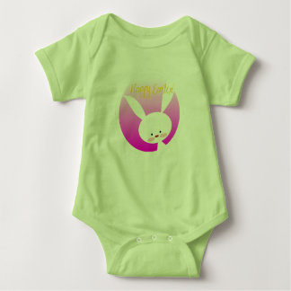 Cute My First Easter Happy Easter Bunny Baby Bodysuit