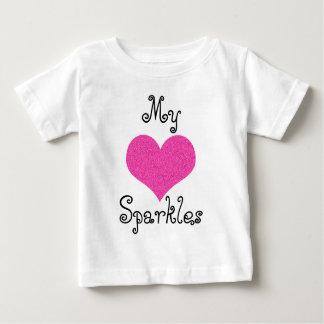 cute my heart sparkles baby tshirt