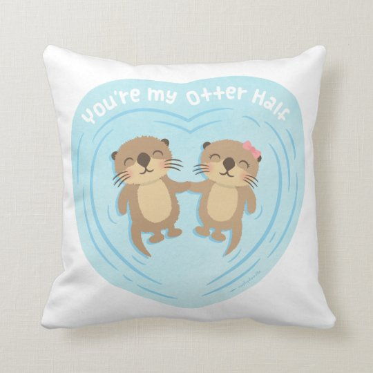 Cute My Otter Half Pun Love Humour Throw