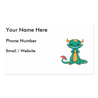 Cute Mythical Dragon Smiling Pack Of Standard Business Cards