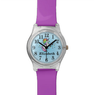 Cute Name and Rainbow Unicorn Watch