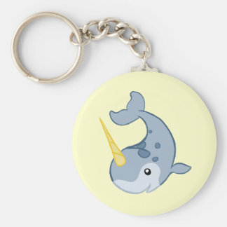 Cute Narwhal Key Ring