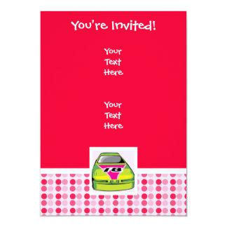 Cute Nascar 13 Cm X 18 Cm Invitation Card