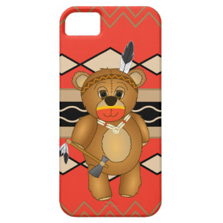 Cute Native American Indian Teddy Bear Cartoon Barely There iPhone 5 Case