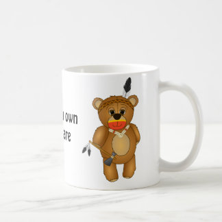 Cute Native American Indian Teddy Bear Cartoon Coffee Mug