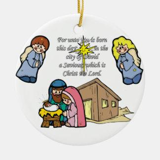 Cute Nativity Scene Ornament