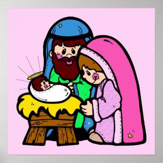 Cute Nativity Scene Poster