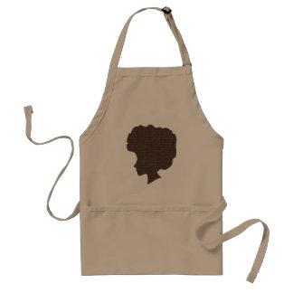 Cute Natural Afro Silhoutte Standard Apron