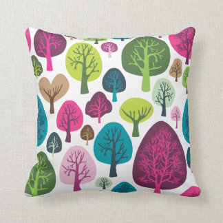 Cute nature tree flower retro pattern cushion