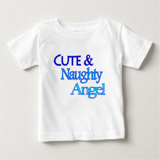 Cute Naughty Angel fun blue design Tshirt