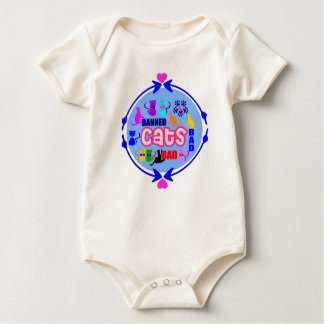 😻🐾↷❤Cute Naughty Cat Family Finest Organic Baby Bodysuit