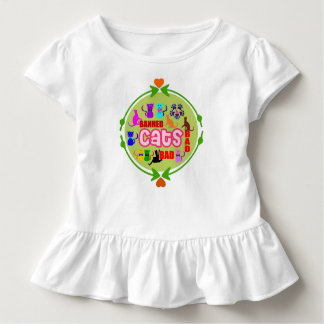 😻🐾↷❤Cute Naughty Cat Family Sporty & Stylish Toddler T-Shirt