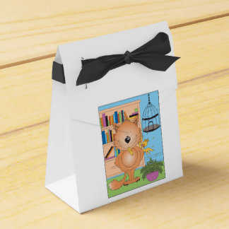 Cute Naughty Kitty Cat Cartoon and Friend Favour Box