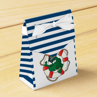 Cute Nautical Alligator Baby Shower Theme Favour Boxes