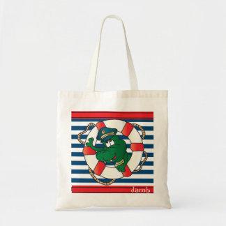 Cute Nautical Alligator Nursery Theme Bags