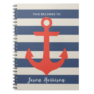 Cute Nautical Sailor Notebook