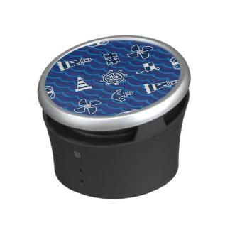 Cute Nautical Waves Pattern Bluetooth Speaker