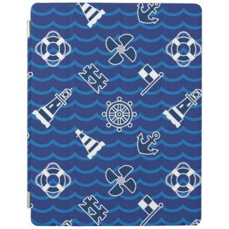 Cute Nautical Waves Pattern iPad Cover