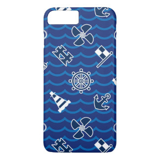 Cute Nautical Waves Pattern iPhone 8 Plus/7 Plus Case