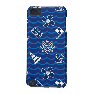 Cute Nautical Waves Pattern iPod Touch (5th Generation) Cases