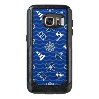 Cute Nautical Waves Pattern OtterBox Samsung Galaxy S7 Case
