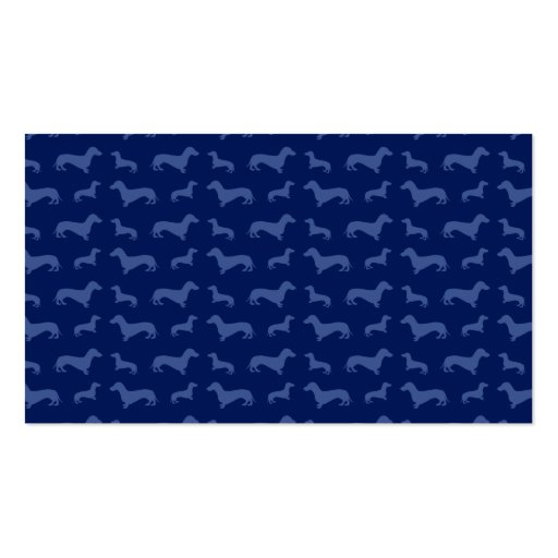 Cute navy blue dachshund pattern business card templates