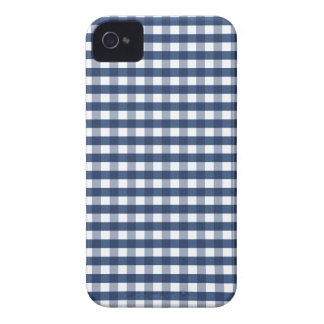 Cute Navy Blue Gingham iPhone 4 Case