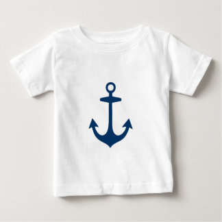 Cute Navy Blue Nautical Inspired Baby T-Shirt