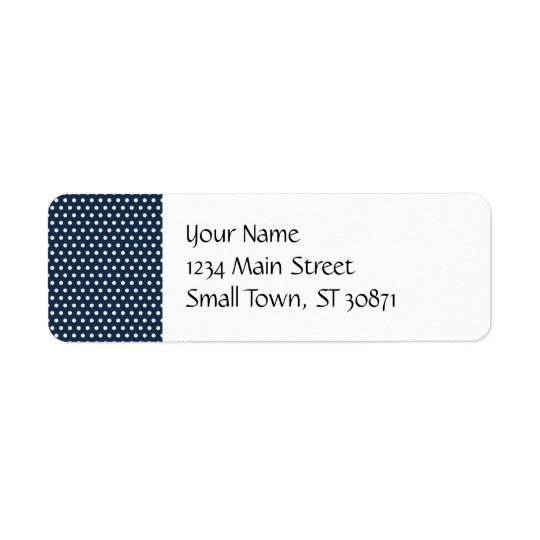Cute Navy Blue White Tiny Little Polka Dots Gifts