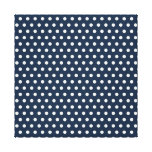 Cute Navy Blue White Tiny Little Polka Dots Gifts Canvas Prints