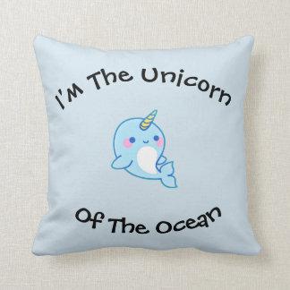 Cute Nawhal Throw Pillow