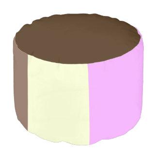 Cute Neapolitan Ice Cream Sandwich Round Pouf