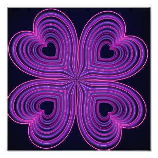 Cute Neon Girly Purple Heart Photograph