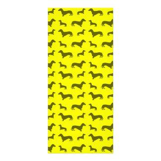 Cute neon yellow dachshund pattern custom rack card
