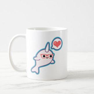 Cute Nerd Narwhal Coffee Mug