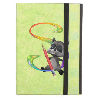 Cute Nerd Raccoon Monogram S Case For iPad Air
