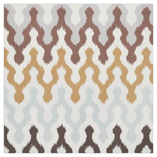 Cute neutral brown gold grey chevron ikat pattern