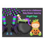 Cute Neutral Halloween Pumpkin Baby Shower Invite