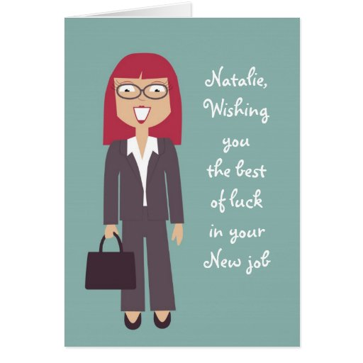 Cute new job or promotion card