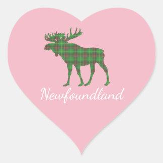 Cute Newfoundland moose tartan sticker
